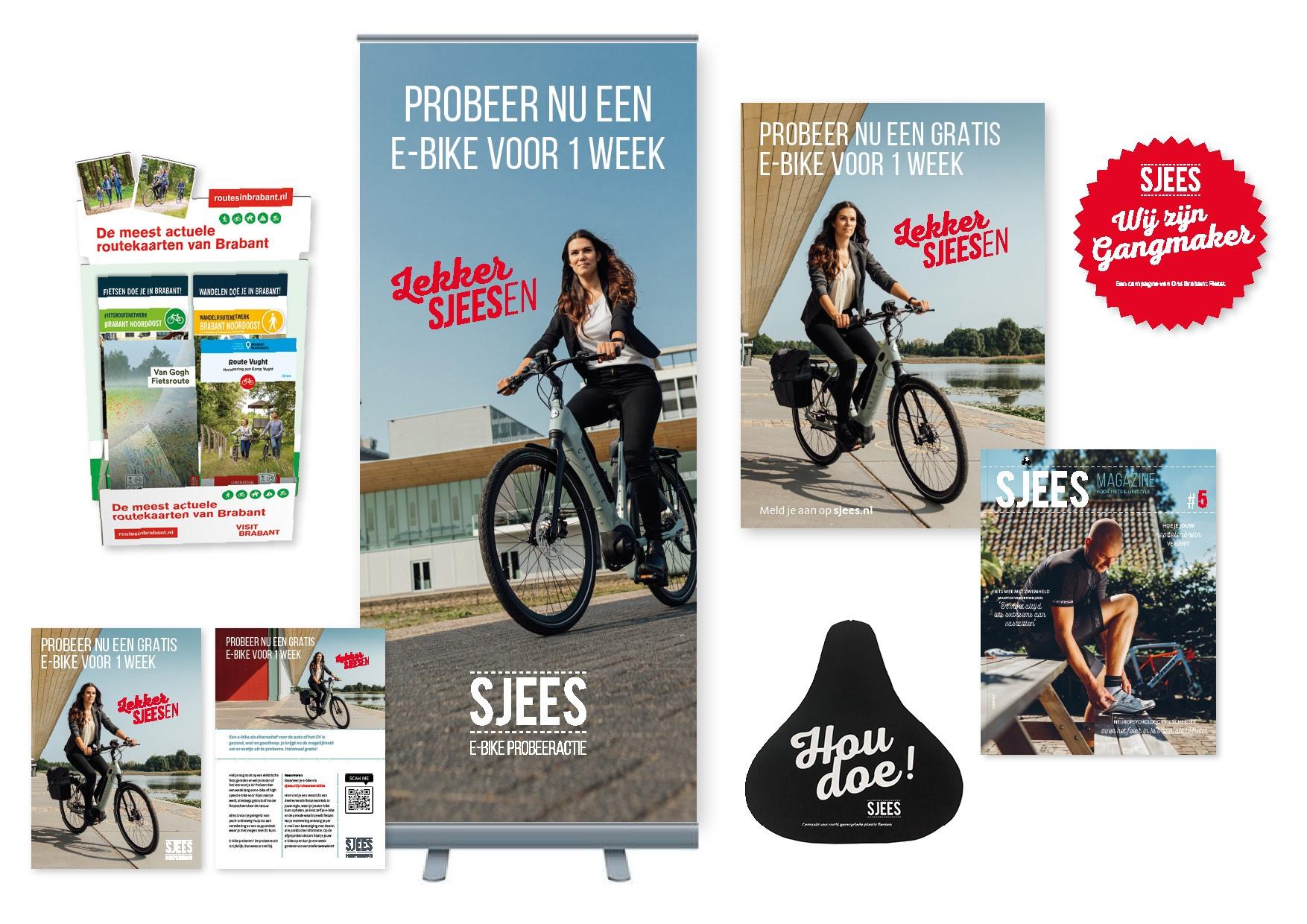 Offline promotiemiddelen e-bike probeeractie